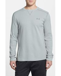 Under Armour | Blue 'amplify' Thermal Long Sleeve T-shirt for Men | Lyst