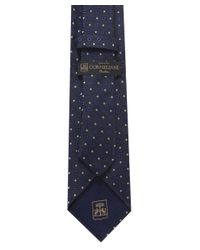 Corneliani   Blue Square Patterned Tie for Men   Lyst