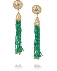 Rosantica - Green Cascata Jade Clip Earrings - Lyst