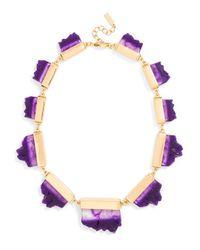BaubleBar - Purple Raw Geode Collar - Lyst