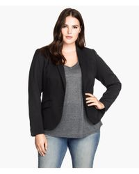 H&M - Black + Figure-Fit Blazer - Lyst