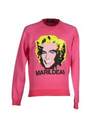 DSquared² - Pink Sweatshirt for Men - Lyst
