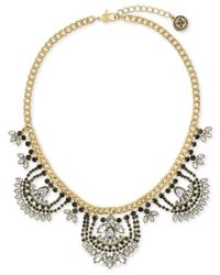 BCBGeneration | Metallic Beaded Collar Necklace | Lyst