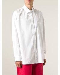 Alexander McQueen - White Oversize Shirt for Men - Lyst