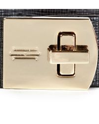 Hobbs - Black Turnlock Bracelet - Lyst
