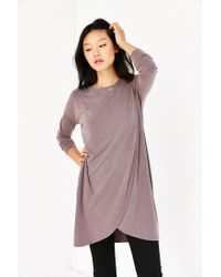 Silence + Noise | Brown Tulip Hem Tunic Dress | Lyst