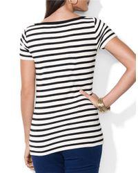 Lauren by Ralph Lauren   White Striped Bateau Shirt   Lyst