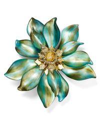 Alexis Bittar - Green Lucite Floral Punk Petal Pin - Lyst
