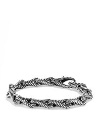 David Yurman - Metallic Chevron Figureeight Large Link Bracelet for Men - Lyst