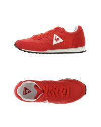 Le Coq Sportif - Red Low-tops & Trainers - Lyst