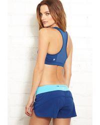 Forever 21 - Blue High Impact - Mesh Back Sports Bra - Lyst