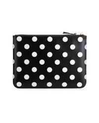 Comme des Garçons - Black White Polka Dots Printed Pouch - Lyst
