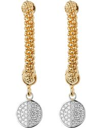 Links of London | Metallic Star Dust Gold-plated Cubic Zirconia Drop Earrings - For Women | Lyst