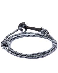 Miansai | Gray Rope And Anchor Bracelet for Men | Lyst