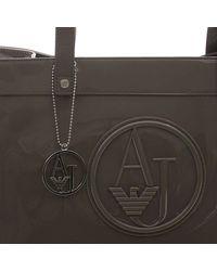 Armani Jeans | Gray Handbag Patent Shoppin 1 Zip | Lyst