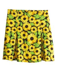 H&M - Yellow Patterned Skirt - Lyst