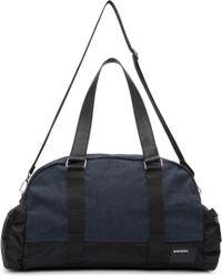 DIESEL | Black And Blue De Yanki Duffle Bag for Men | Lyst