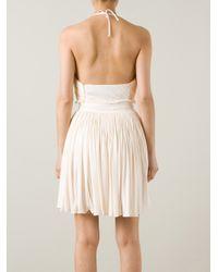 Vionnet | Pink Pleated Halterneck Dress | Lyst