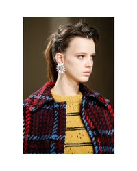 Miu Miu - Metallic Clip-on Earrings With Swarovski Crystals - Lyst
