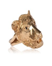 Dominique Lucas | Metallic Lion Ring Yellow Gold | Lyst