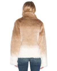 Sanctuary | Brown Faux Fur Chubby Funnel Neck Bomber | Lyst