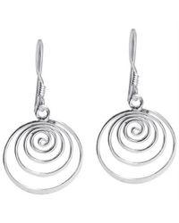 Aeravida - Metallic Spiral Comets Dangle .925 Sterling Silver Earrings - Lyst