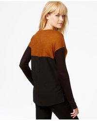 Sanctuary | Black Ribbed Contrast Sweater | Lyst