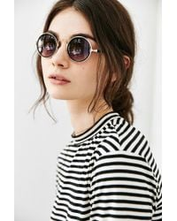 Urban Outfitters - Black Full Moon Round Sunglasses - Lyst