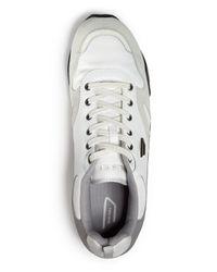 DIESEL - White Long Term E-dynagg Runner Sneakers for Men - Lyst