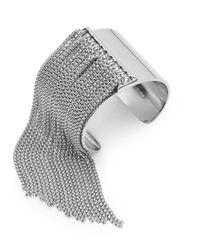 BCBGeneration - Metallic Snake Charmer Fringe Cuff Bracelet - Lyst