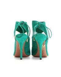 Aquazzura | Green Sexy Thing Suede Sandals | Lyst