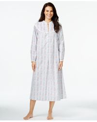 Lanz of Salzburg | Green Flannel Henley Nightgown | Lyst