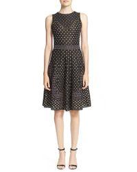 M Missoni | Pink Metallic Print Jacquard Dress | Lyst