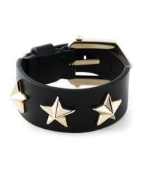 Givenchy | Black Star Studded Cuff | Lyst