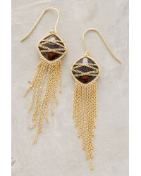 Anthropologie - Metallic Celaeno Fringed Drops - Lyst