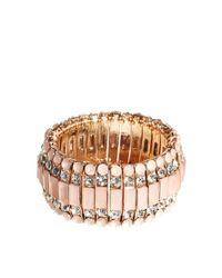 ALDO | Pink Etalema Stone Stretch Bracelet | Lyst