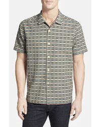 Tommy Bahama | Black 'pixel In Paradise' Silk & Cotton Camp Shirt for Men | Lyst