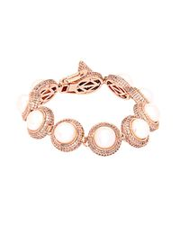 Eddie Borgo - Pink Pavé And Pearl Dome Bracelet - Lyst