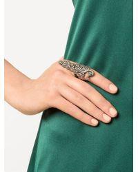 Kirat Young | Metallic Pavé Diamond Peacock Ring | Lyst