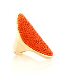 Henri Bendel - Orange Bendel Rocks Cocktail Ring - Lyst