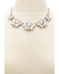 Forever 21 | Metallic Floral Statement Necklace | Lyst