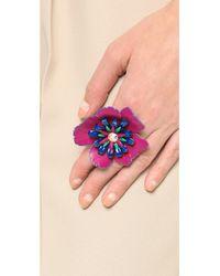 Erickson Beamon - Purple Urban Jungle Ring Pink Multi - Lyst