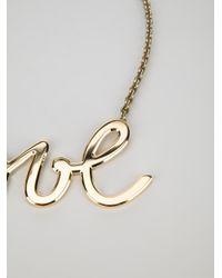 Lanvin - Metallic Love Chain Necklace - Lyst