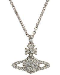 Vivienne Westwood | Metallic Grace Bas Relief Orb Crystal Necklace | Lyst