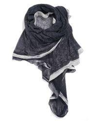 La Fiorentina | Blue Silk & Cashmere Wrap | Lyst