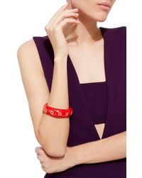 Mark Davis | Red Yellow Sapphire Bakelite Bangle | Lyst