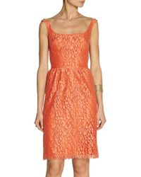 Issa | Red Cotton-blend Lace Dress | Lyst