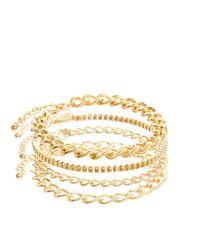 ASOS - Metallic Bracelet Pack with Multiple Chains for Men - Lyst