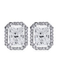 Carat* | Metallic 0.5ct Emerald Cut Studs | Lyst