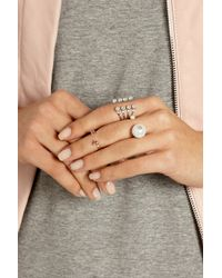 Delfina Delettrez   White 18-Karat Gold, Pearl And Diamond Ring   Lyst